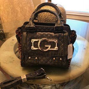 Handbags - Cute Leopard Patton and Quilted Grey Bag New!